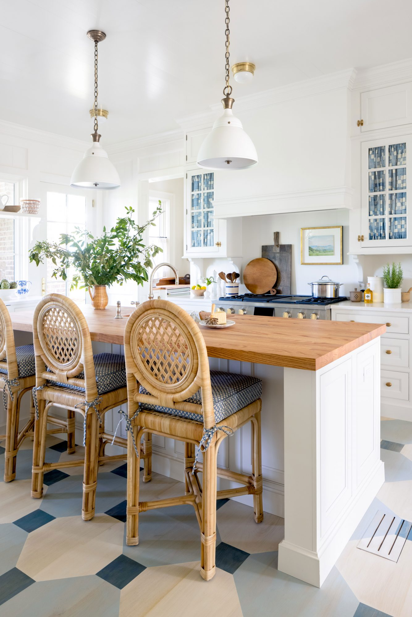 2021 Idea House Kitchen with Painted Floors