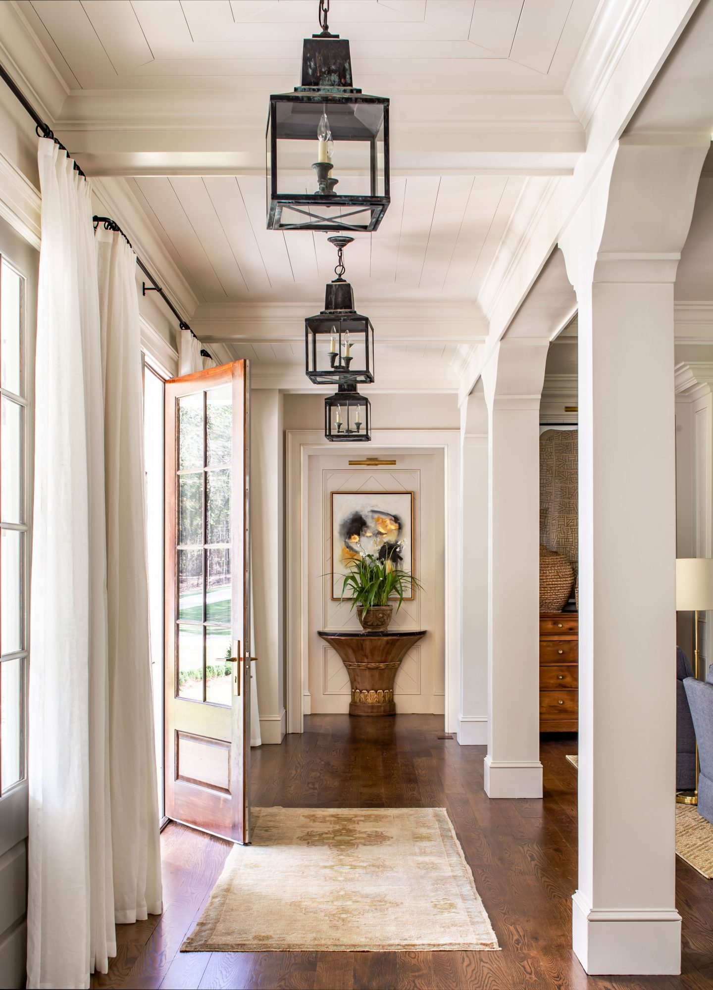 Entry Hall with Lanterns and Pillars