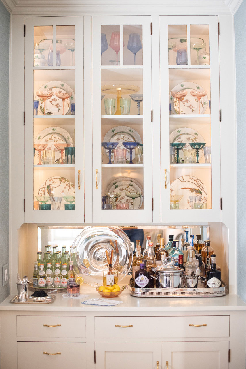 Built-In Cabinets with Glass Fronts