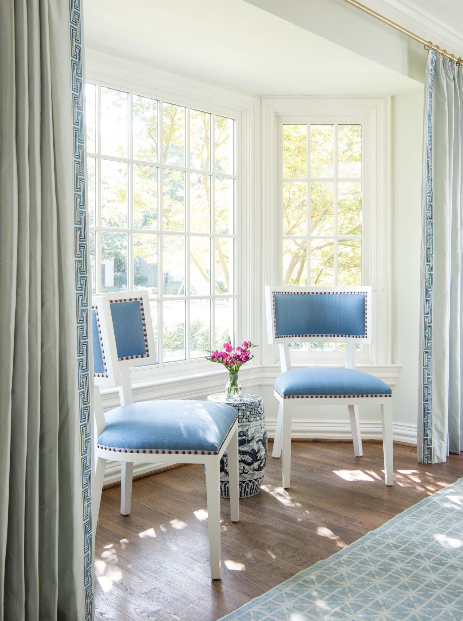 Window Nook with Two Upholstered Chairs