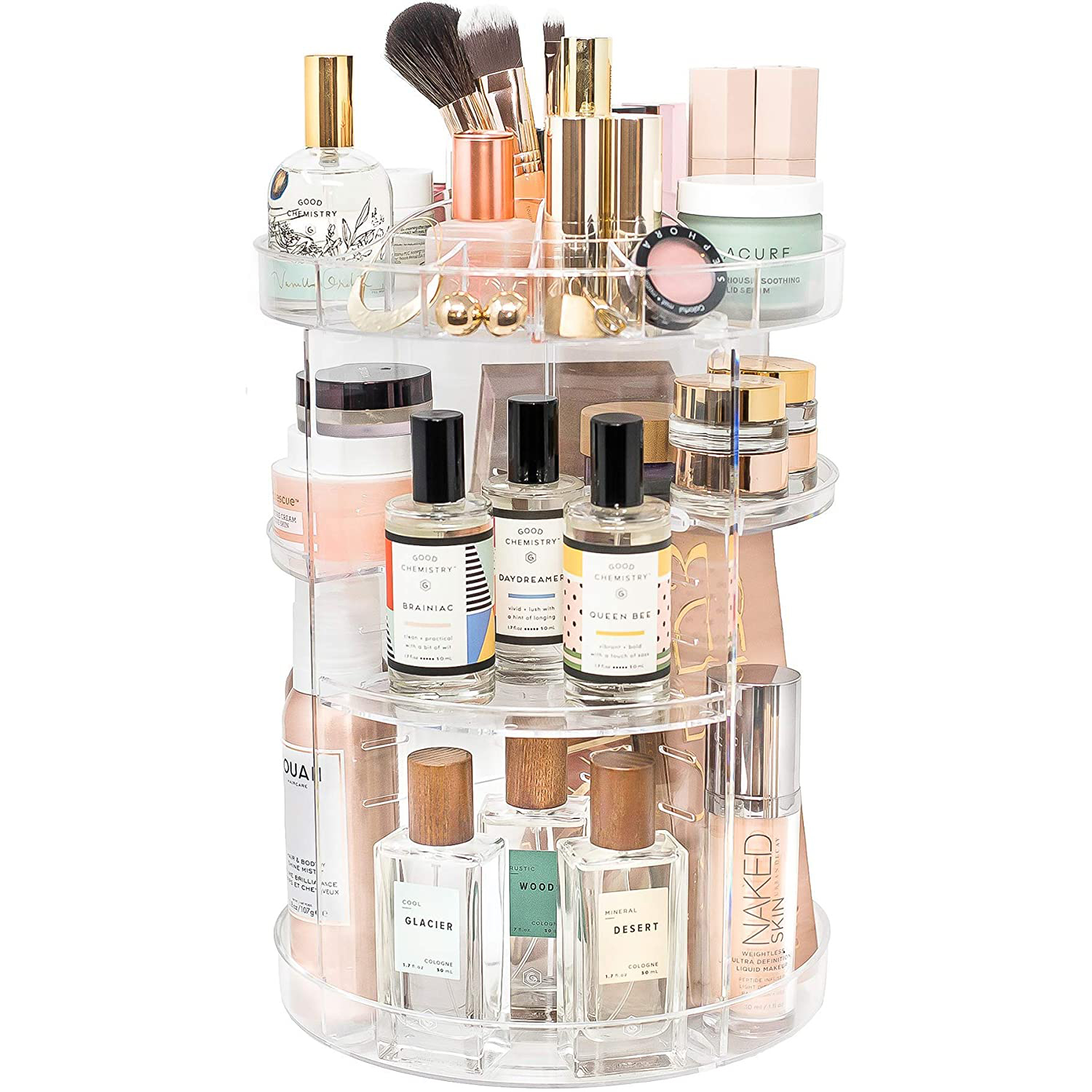 Rotating Makeup Organizer by Tranquil Abode   360 Spinning