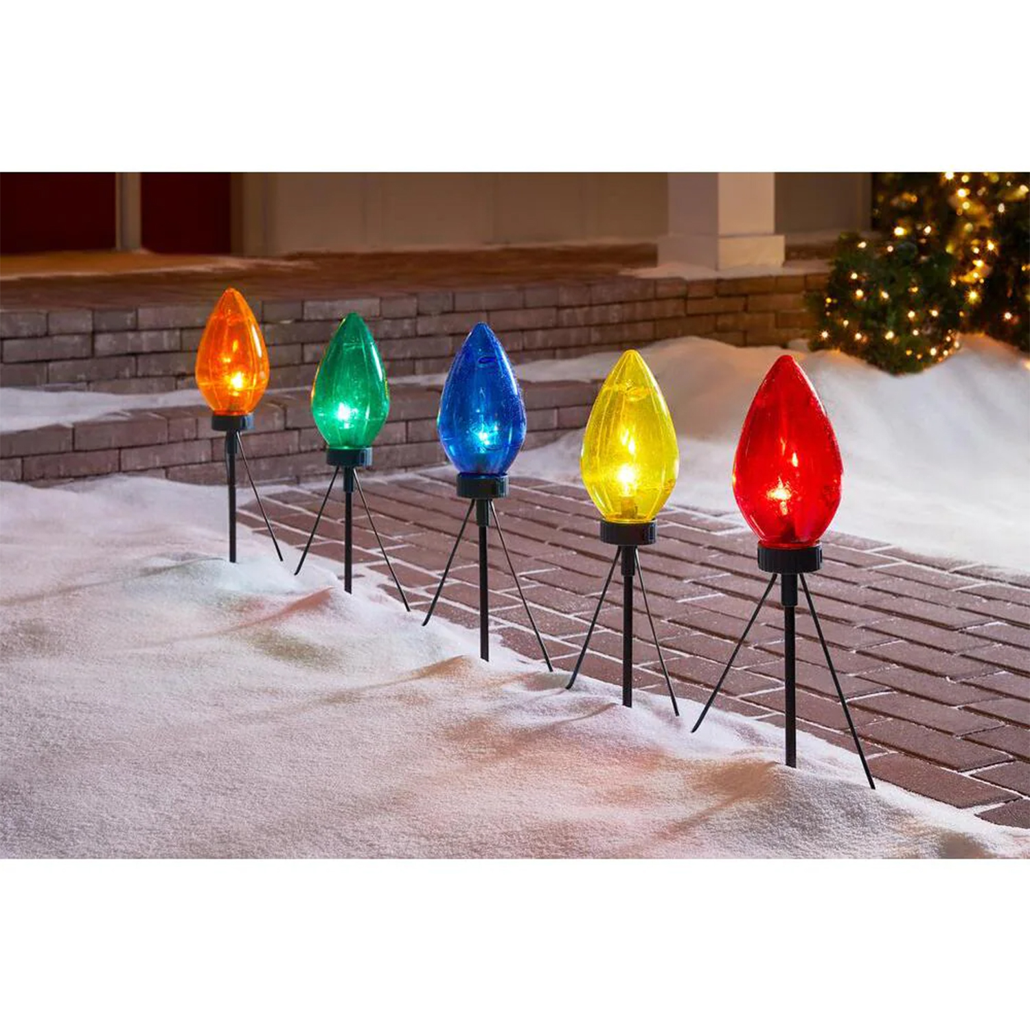 Multi-Color Giant C7 Christmas Pathway Lights