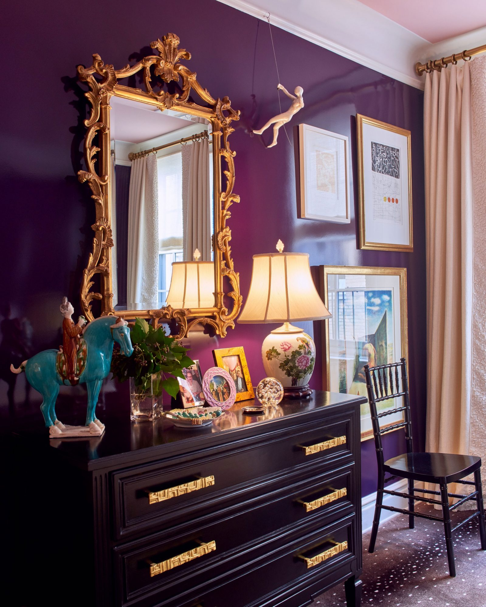 Fine Paints of Europe Carlyle Aubergine in Dining Room