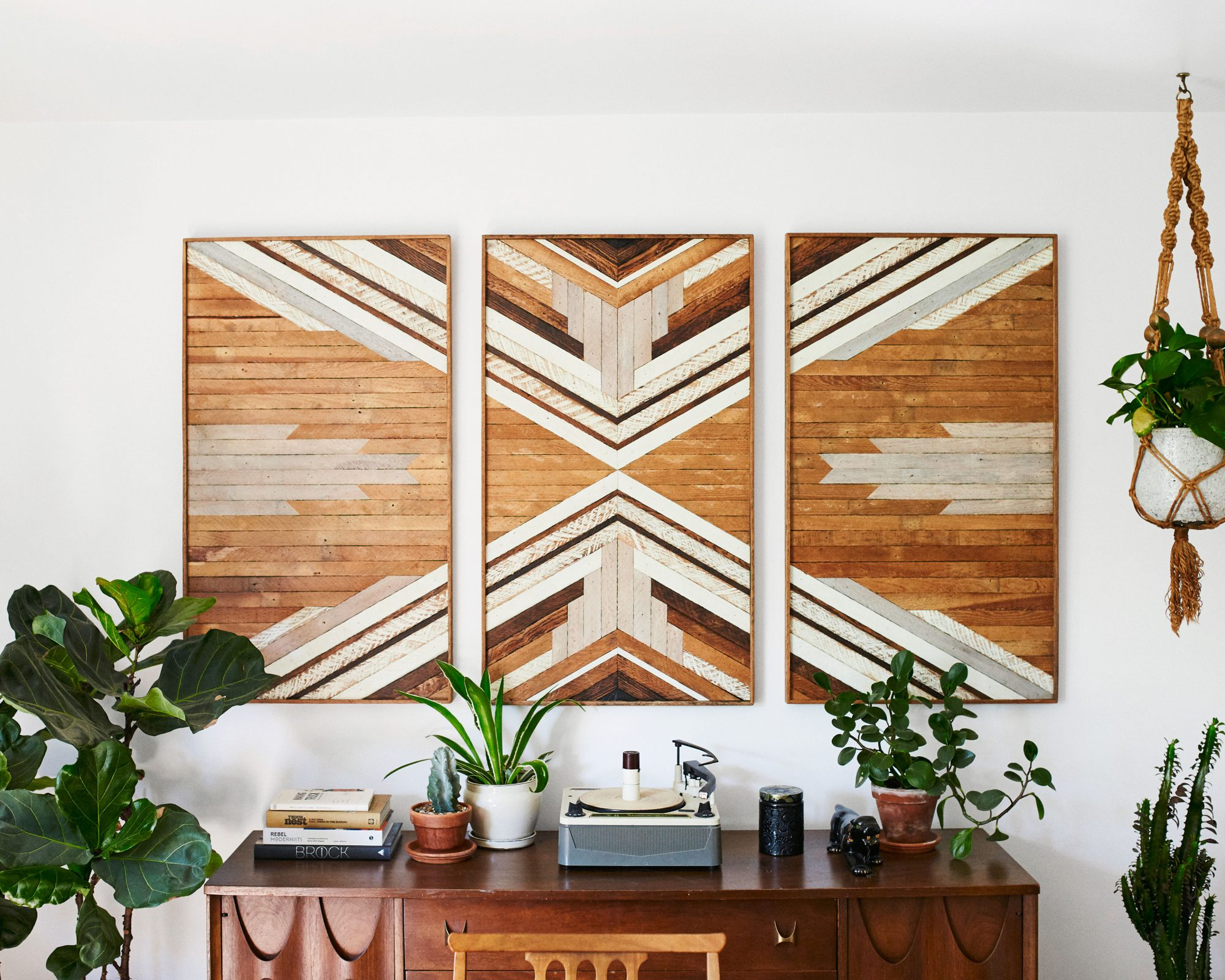 Large Reclaimed Wood Artwork from 1767 Designs
