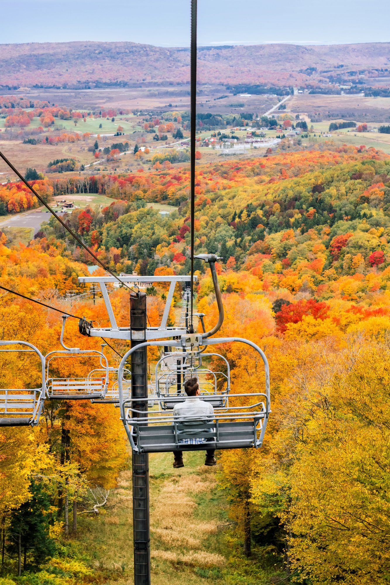 Chairlift view in the fall at Canaan Valley Resort & Conference Center in West Virginia