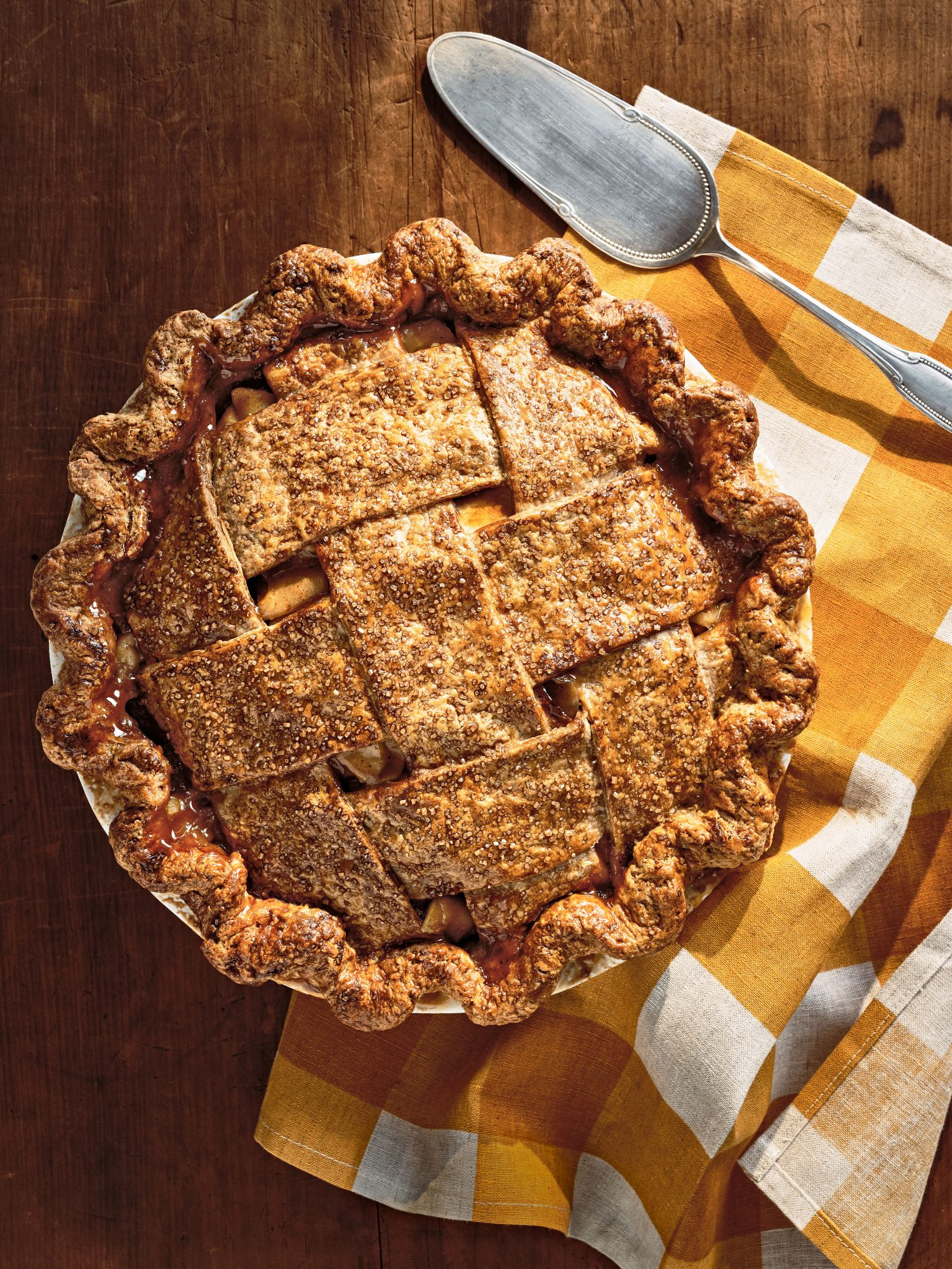 Apple Pie with Rye Crust and Cider Caramel