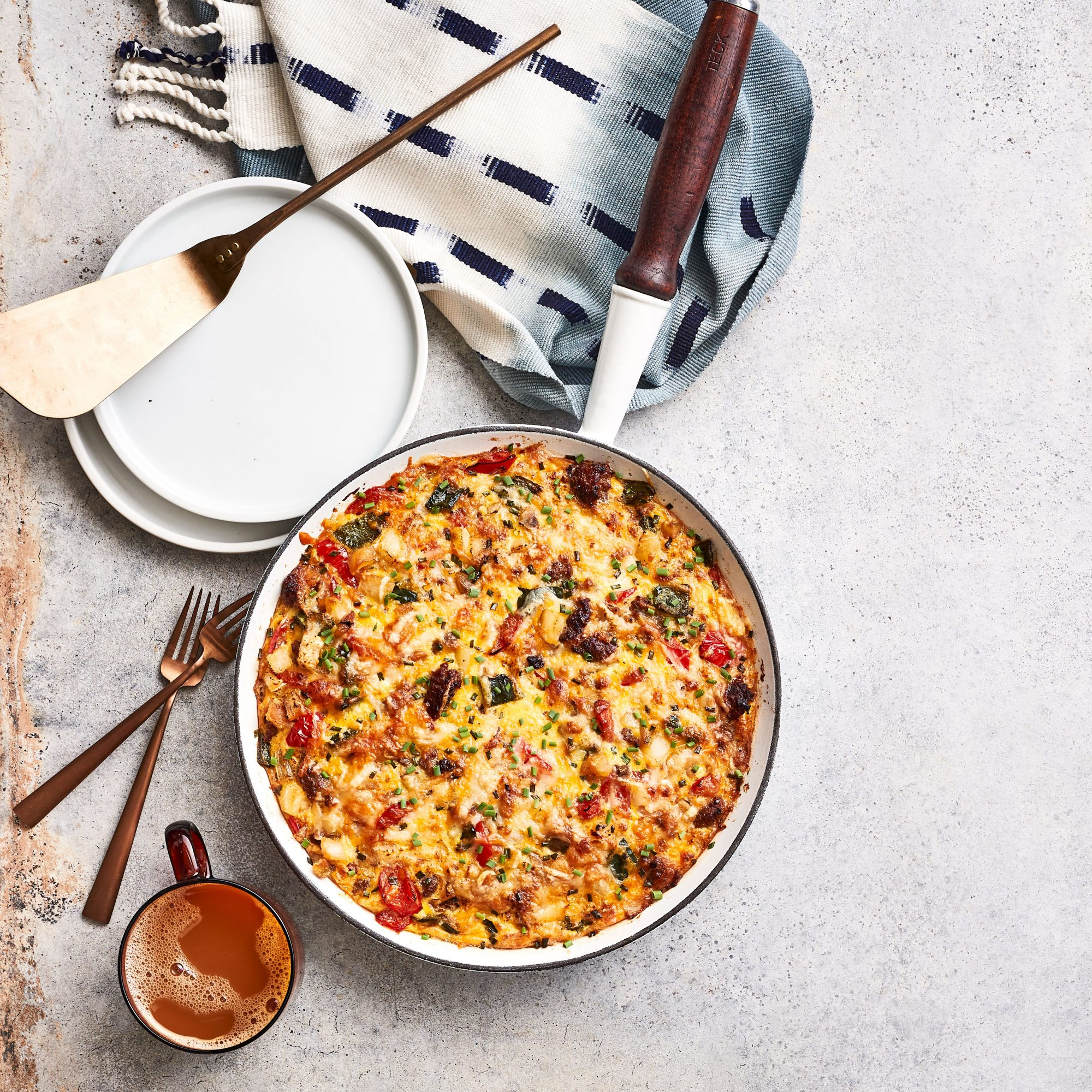 Cheesy Sausage, Egg, and Hash Brown Casserole