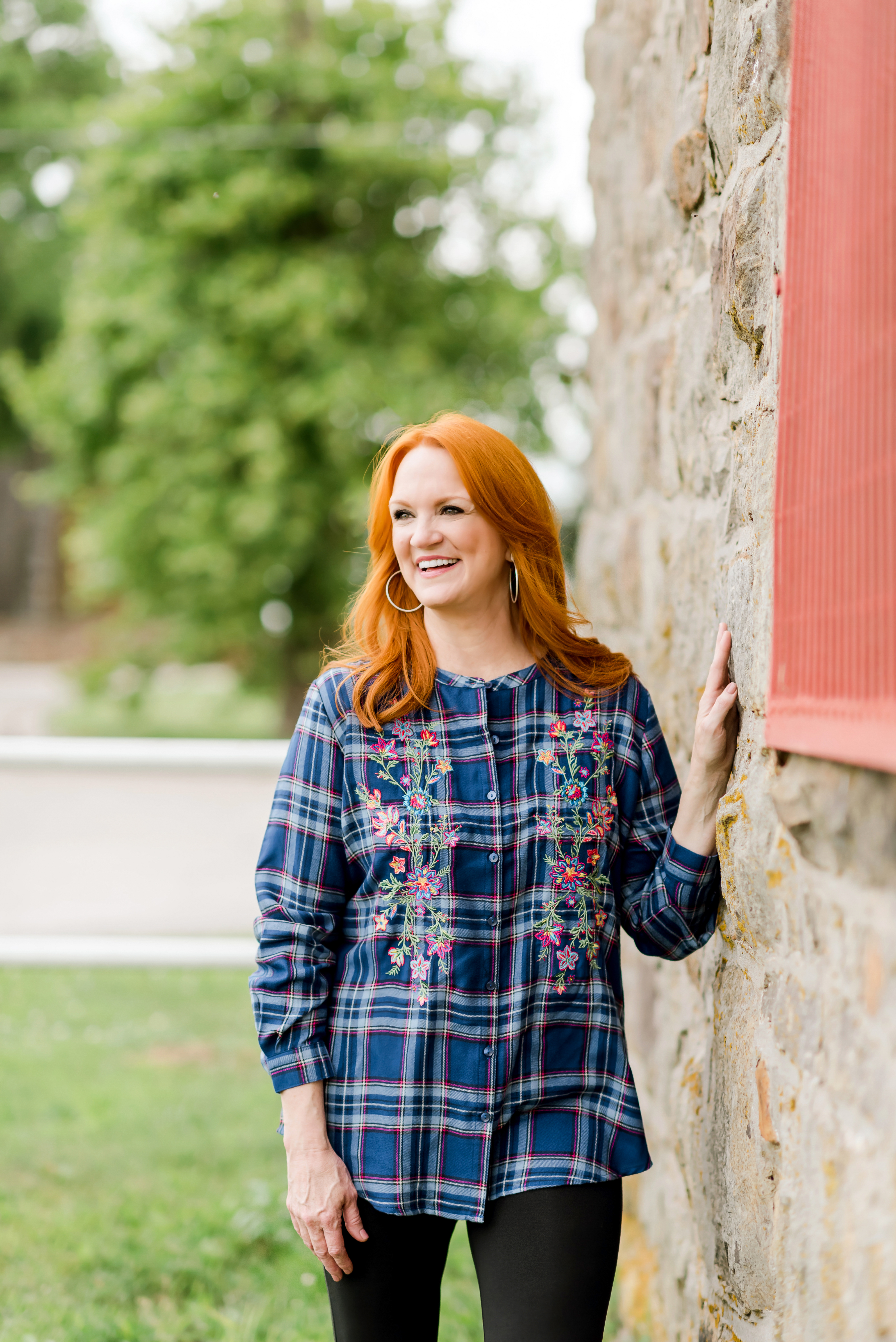 The Pioneer Woman Embroidered Flannel with Long Sleeves