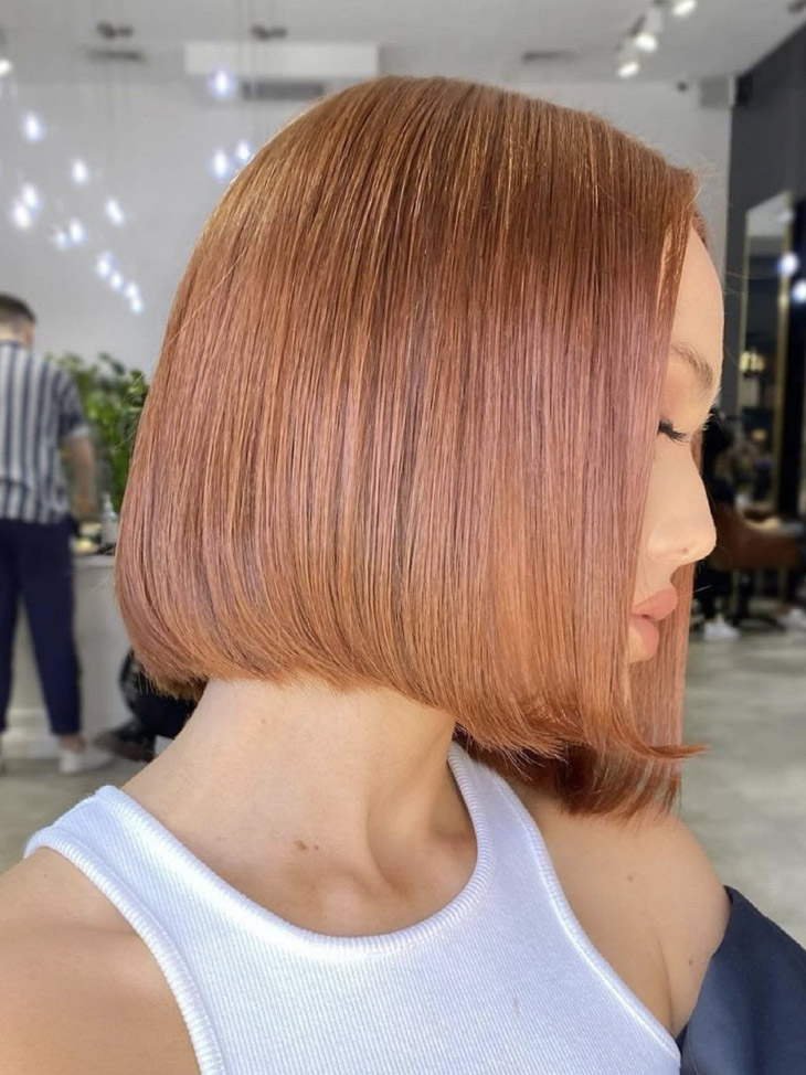 Apricot Red Hair Color