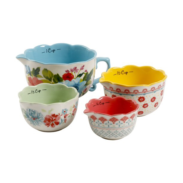 The Pioneer Woman Breezy Blossom 4-piece Measuring Bowls