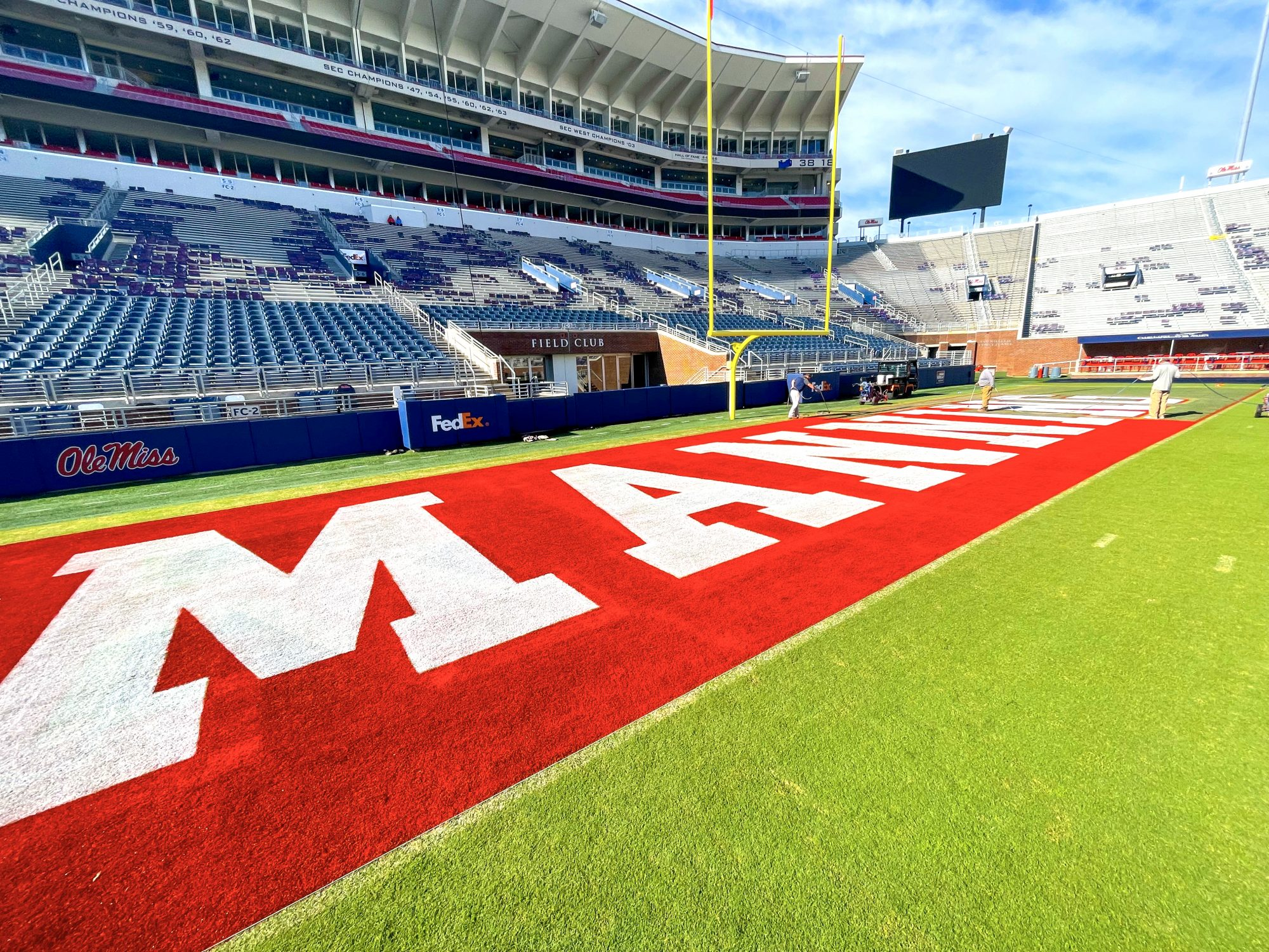 Ole Miss Manning End zone
