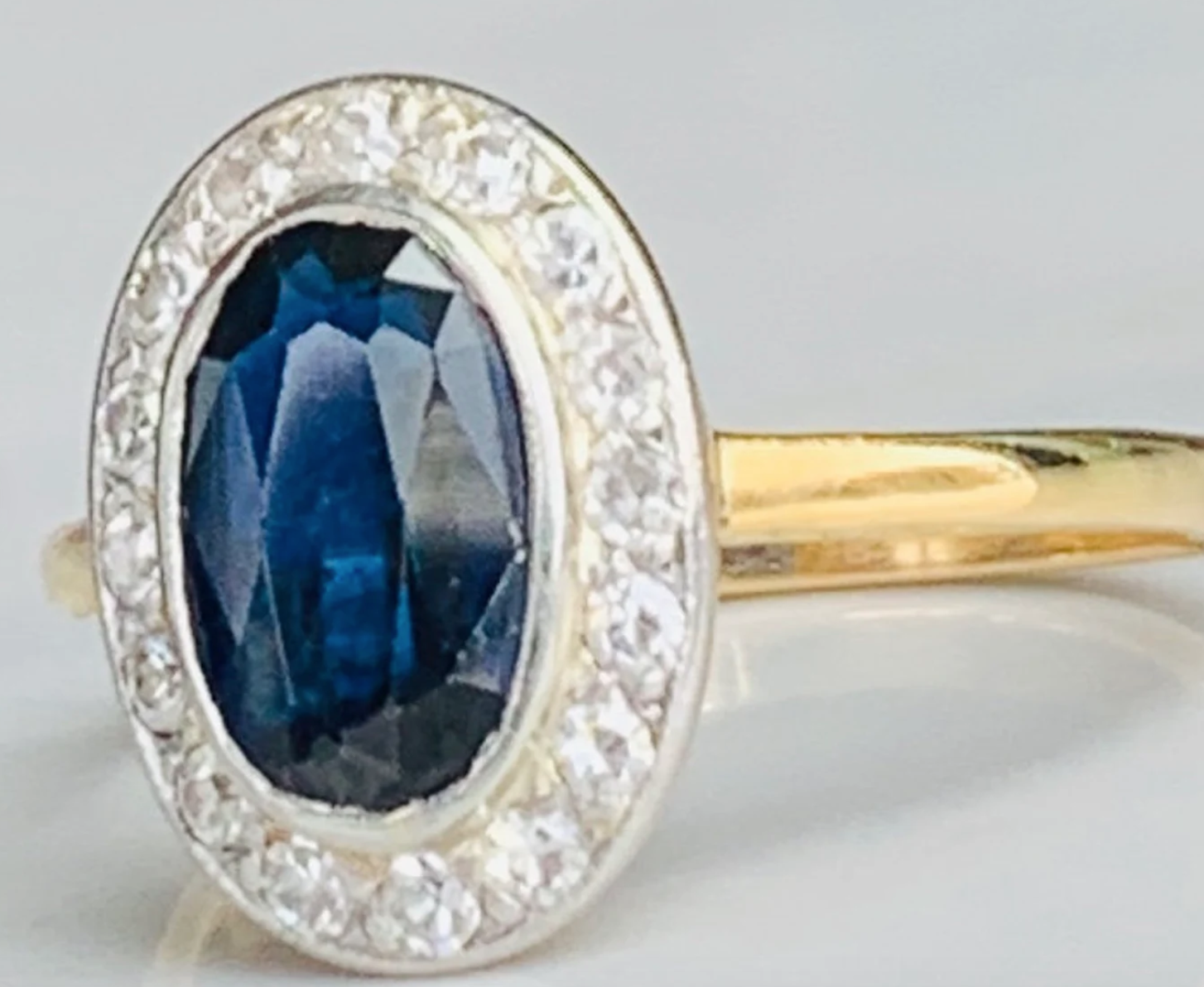 Edwardian Oval Sapphire Ring