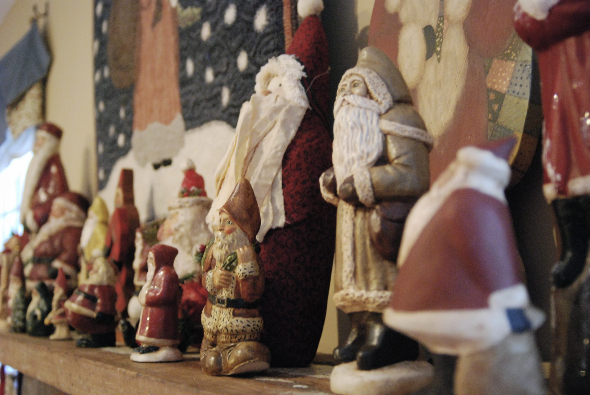 Santas Lined Up in a Row