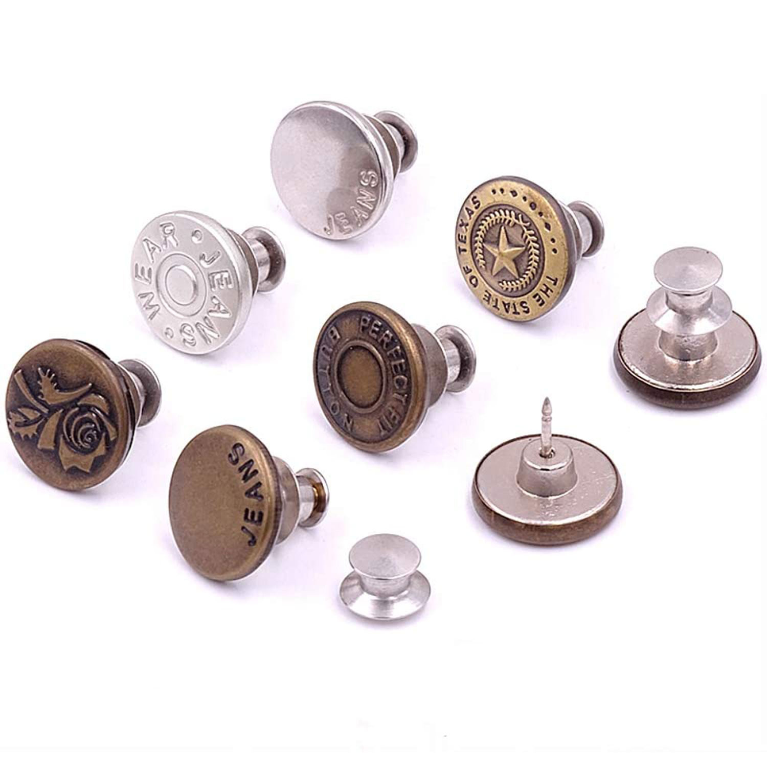 adjustable buttons