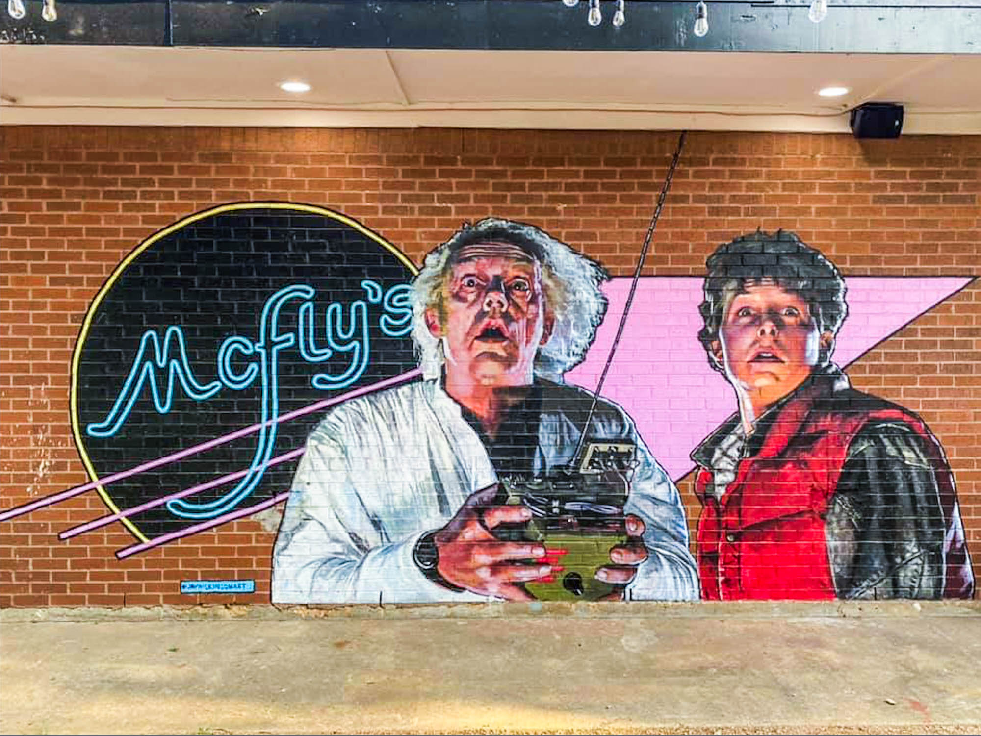 McFly's Pub exterior mural