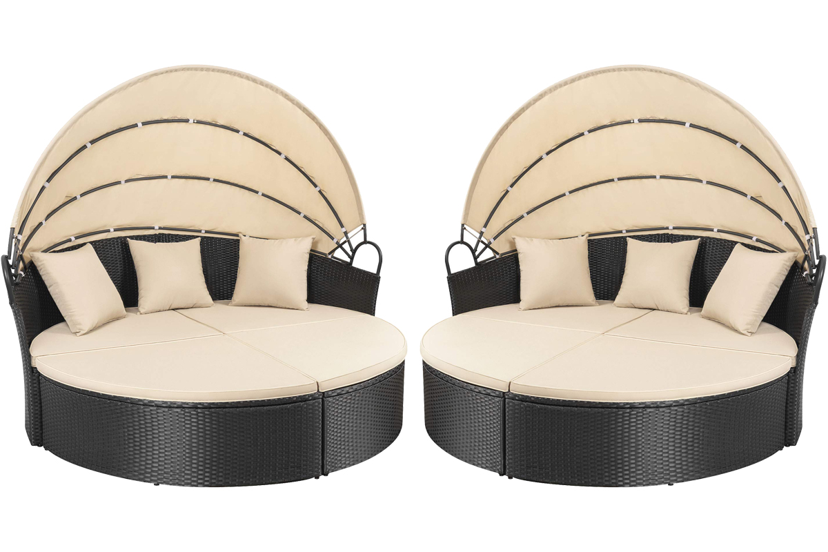 Lacoo patio round daybed