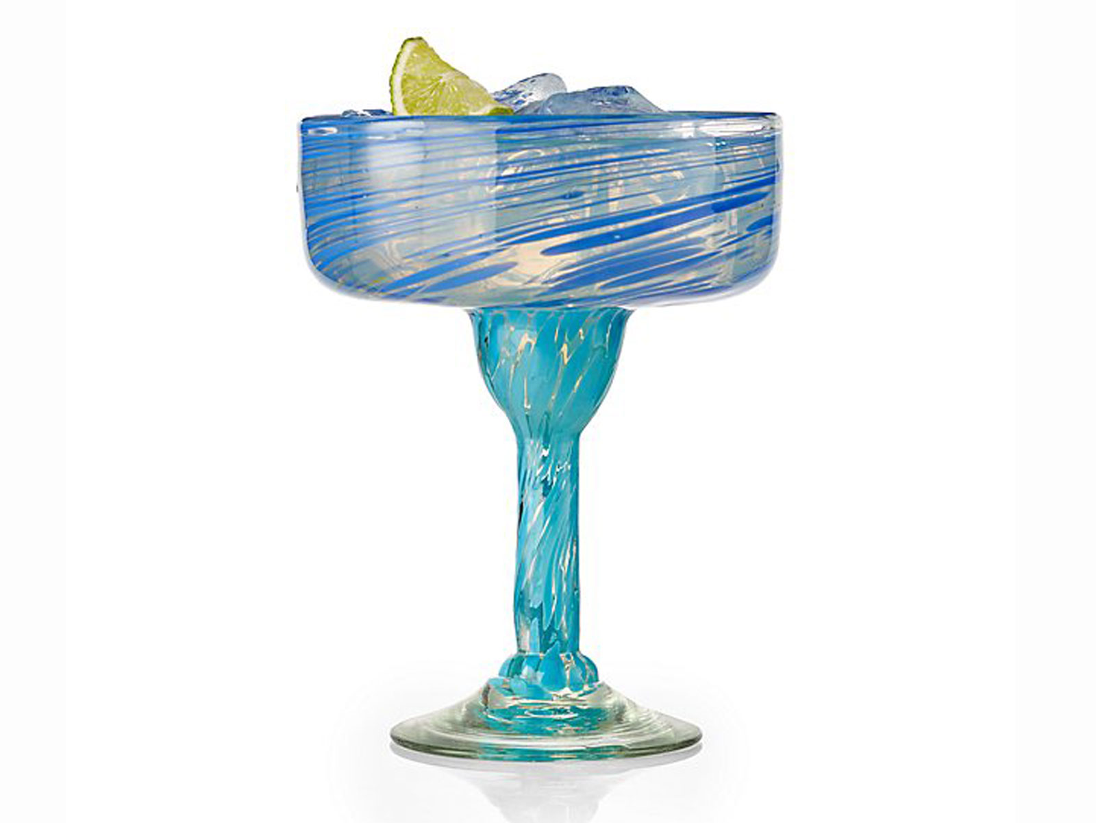 hand blown margarita glass