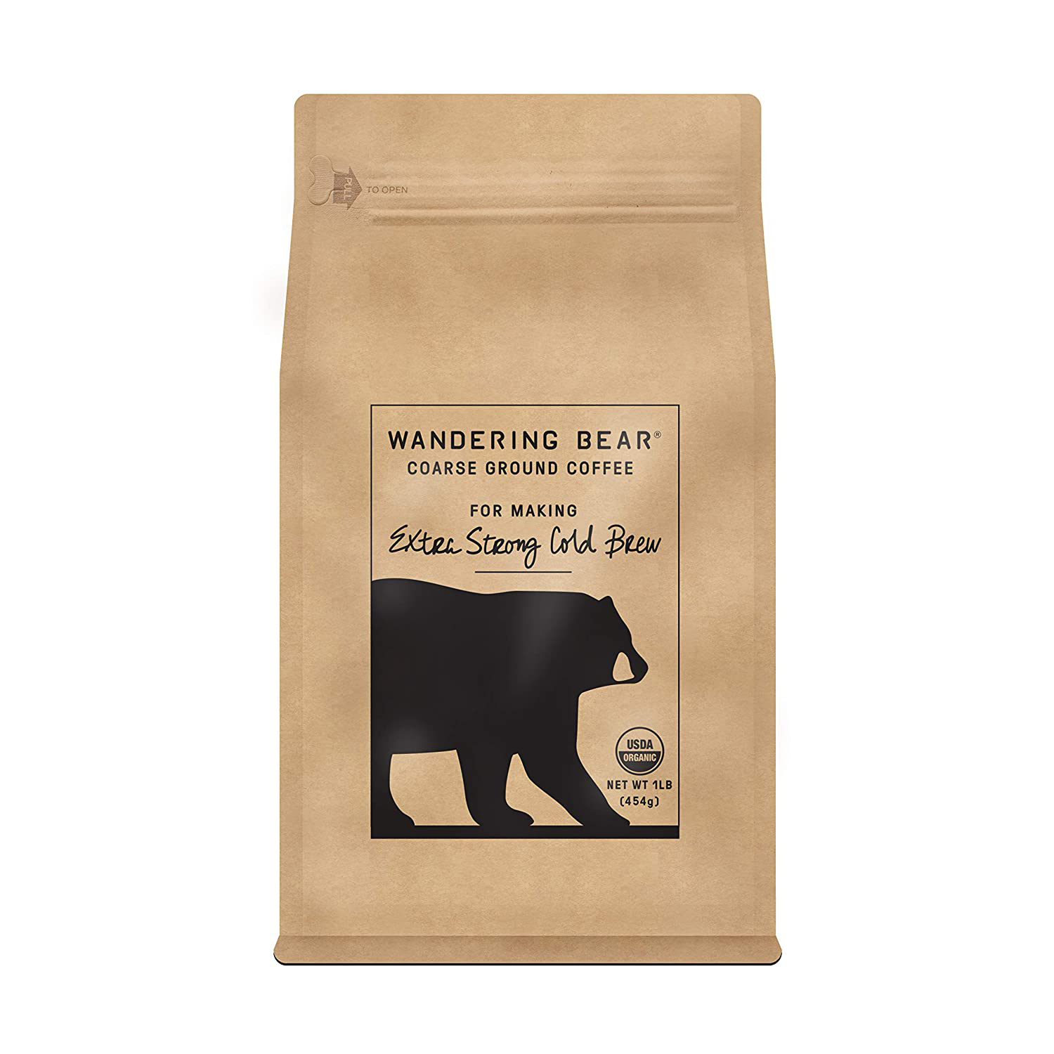 Wandering Bear Extra Strong Organic Coarse Ground Coffee