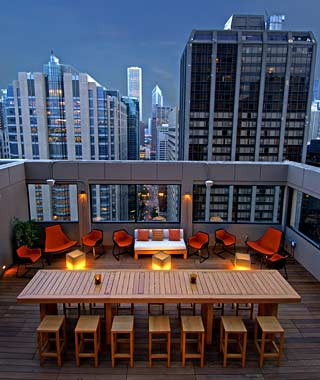 The Hottest Hotel Rooftop Bars: Chicago: C-View at the Affinia Hotel