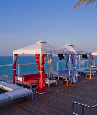 The Hottest Hotel Rooftop Bars: Miami: Plunge at the Gansevoort