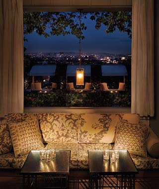 The Hottest Hotel Rooftop Bars: Skybar at the Mondrian West Hollywood