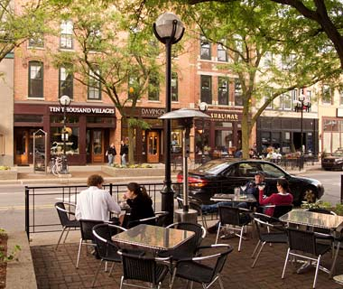 Sidewalk cafe, Ann Arbor, Michigan