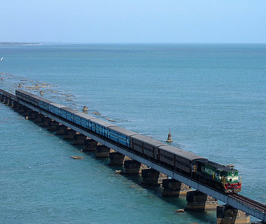 Indian Railways, Pamban Bridge, India