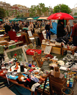 World's Greatest Flea Markets: Plaza de la Seu, in front of the Catedral de Barcelona, Barri Gotic
