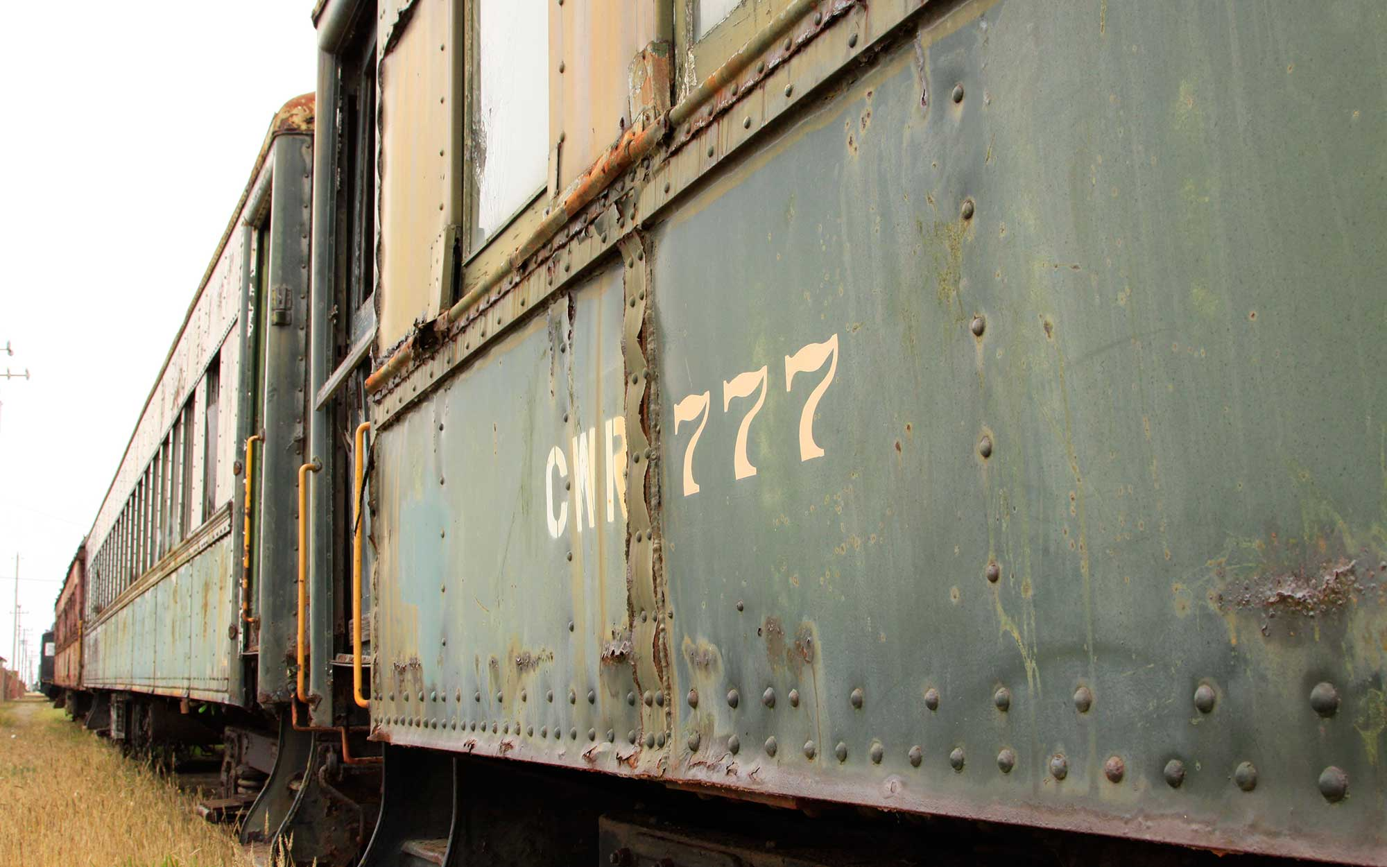 Abandoned Skunk Train, Ft. Bragg, California, abandoned places