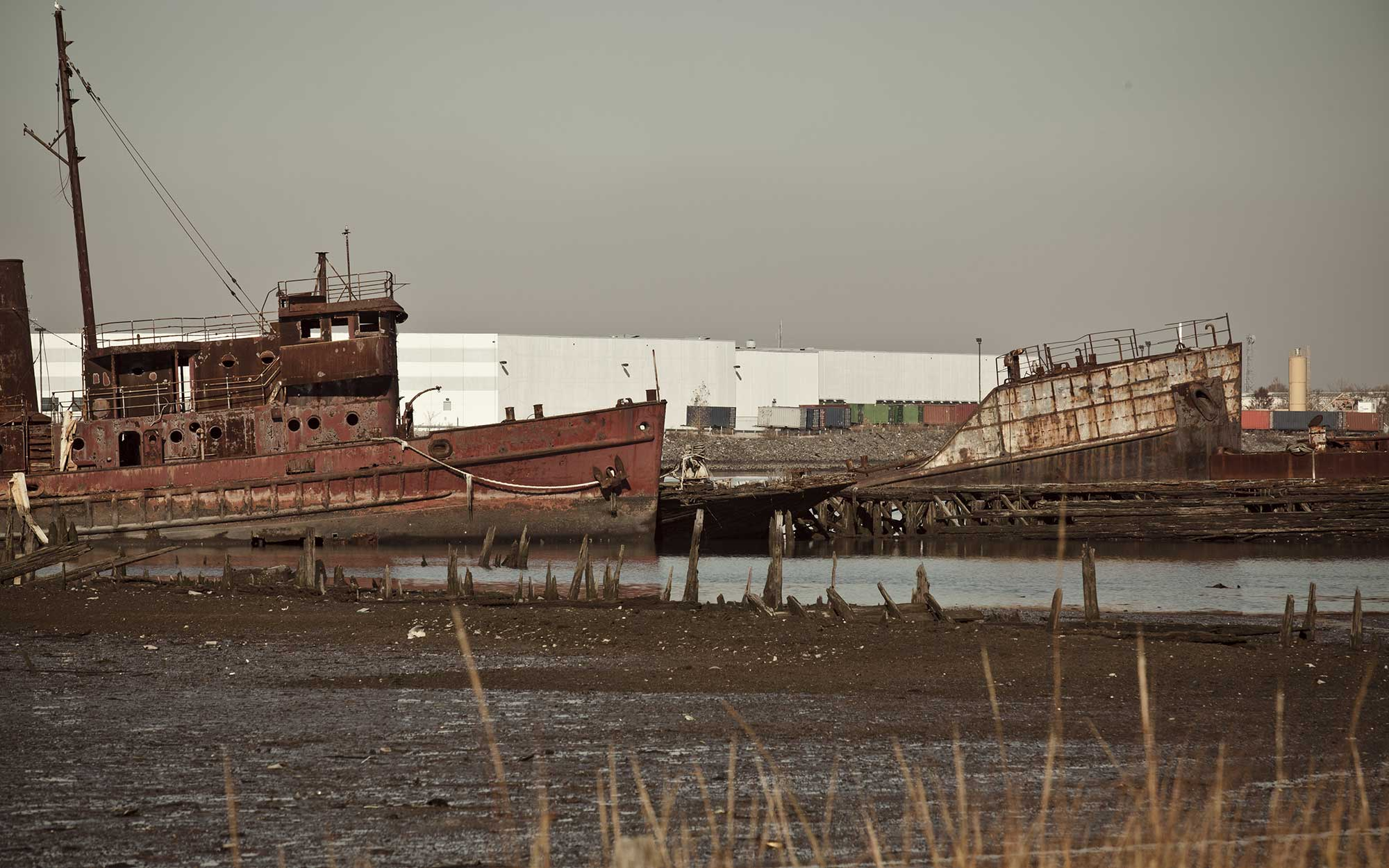 Tugboat Graveyard, Staten Island, New York, abandoned places