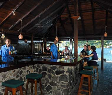 Frangipani Beach Bar, Bequia, Grenadines
