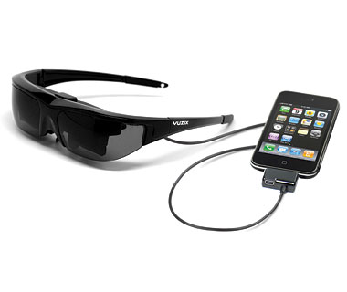 Weirdest Travel Gadgets: Movie-Screen Eyeglasses