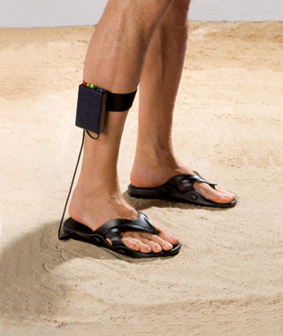 Weirdest Travel Gadgets: metal-detecting sandals