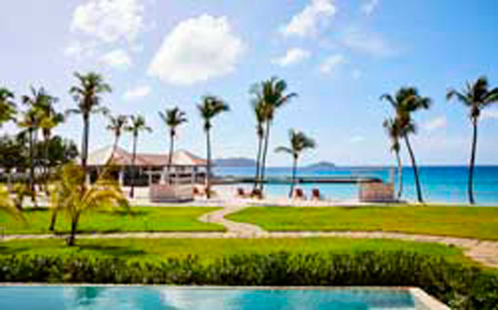 The Liming pool and beach, Bequia, Grenadines