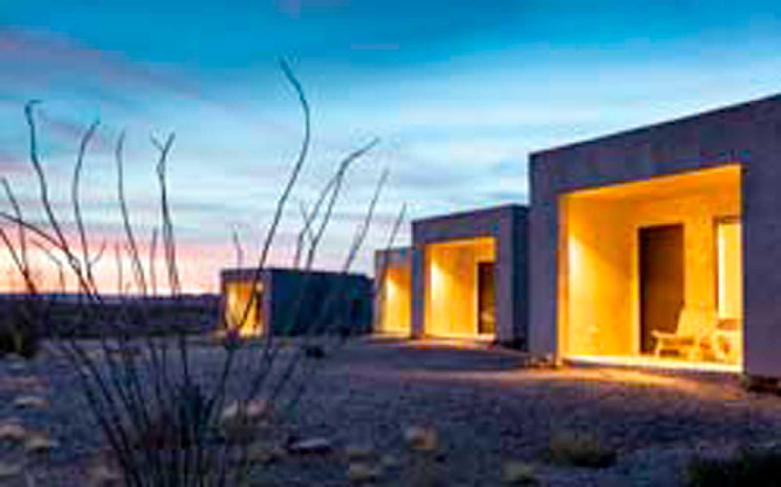 Bungalow exteriors at Willow House, Terlingua, TX