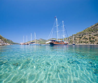 Gulet boat in Turkey (Windstar)