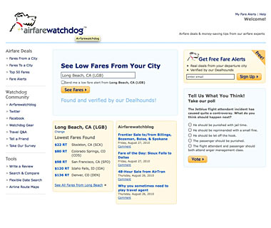 Stay on Top of Airfare Deals: Airfarewatchdog.com