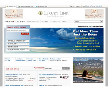 Bid for Your Stay: Luxurylink.com