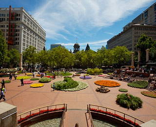10 Great American Public Spaces: Pioneer Courthouse Square, Portland, OR