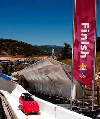 """The Comet"" Bobsled at Utah Olympic Park"