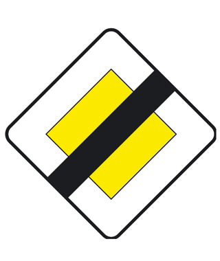 right of way ends