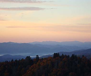 Smoky Mountain Sunrise in Gatlinburg, TN