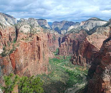 From the top of Angels Landing