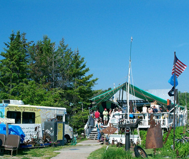 Tom's Burned Down Cafe, Madeline Island, Lake Superior, WI