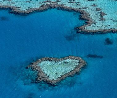 Great Barrier Reef, Australia helicopter ride