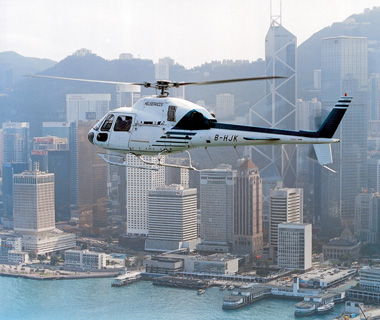 Hong Kong helicopter ride