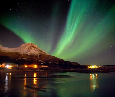 world's top storm-chasing destinations: Iceland: Volcanoes and Northern Lights