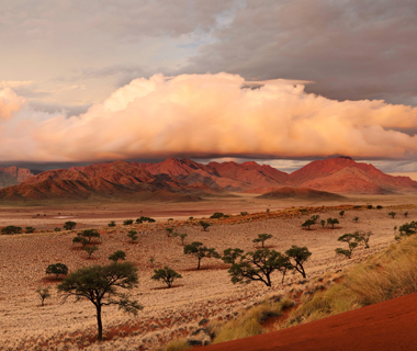 world's top storm-chasing destinations: Namibia: Sandstorms