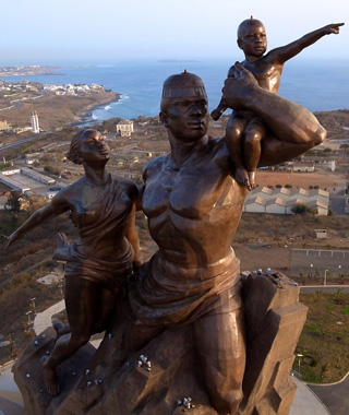 world's most controversial monuments: African Renaissance Monument, Senegal
