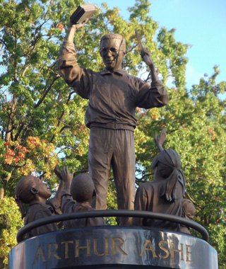 world's most controversial monuments: Statue of Arthur Ashe, Richmond, VA
